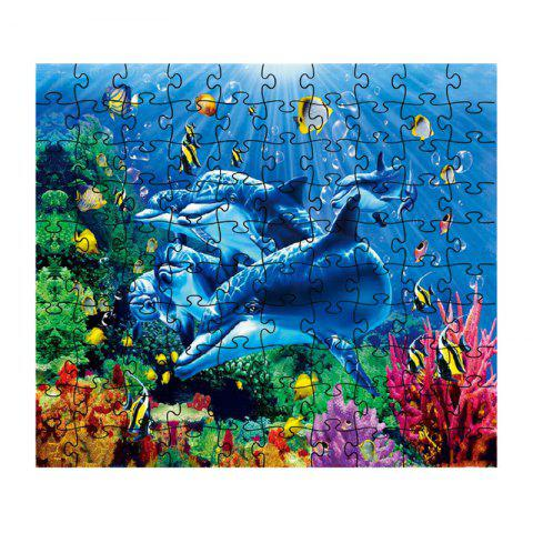 Beautiful Dolphin Jigsaw Puzzle - multicolor