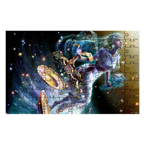 Fairies Come Down To Earth and Do Jigsaw Puzzles - multicolor