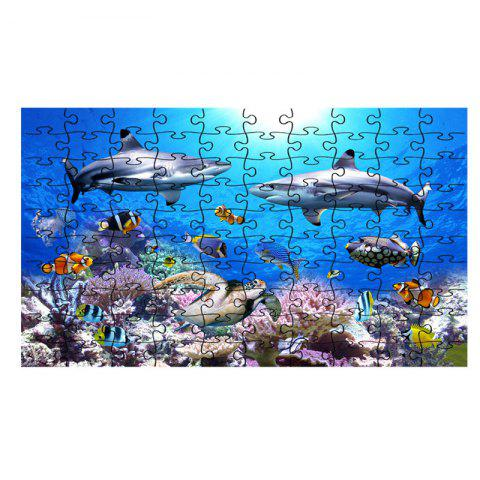 Jigsaw Puzzle Sea World Coral and Dolphins - multicolor