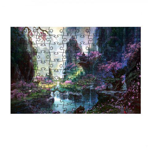 Flowers Rivers Mountains Beautiful Jigsaw Puzzle - multicolor
