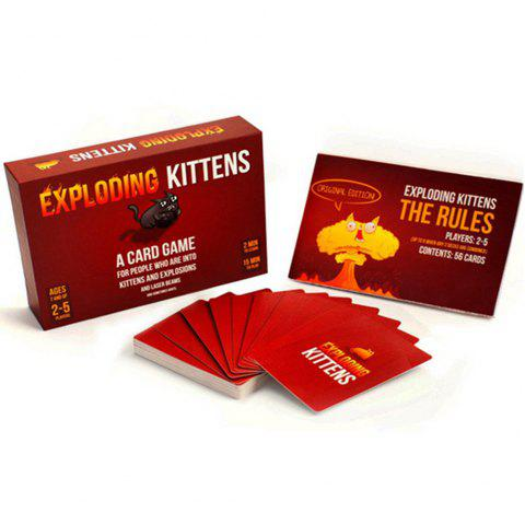 Exploding Kittens Card Game - Rouge Lave 1 SET