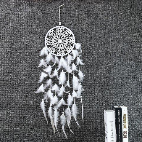 Carillons éoliens fait main Indian Dream Catcher Tenture murale Dreamcatcher Craft Gift - Blanc