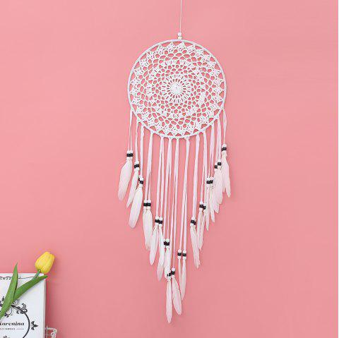 Dreamcatcher Wall Hanging Decoration Ornament Gifts Dream Catcher Home Decor - WHITE