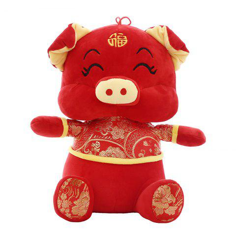 Year of The Pig Mascot Doll Wool Tang Costume Dolls - RED