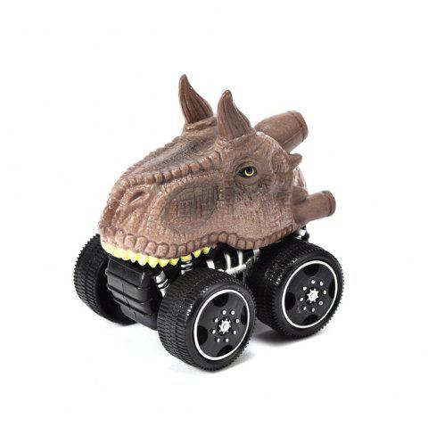 1PCS Dinosaur Inertia Toy Car Boxed Dinosaur Chariot - multicolor C