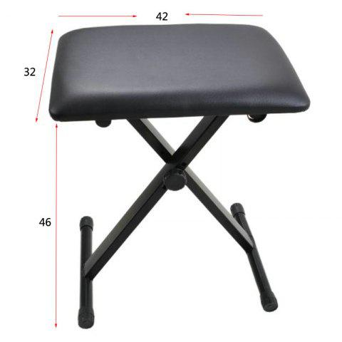 Chair for Electronic Keyboard can be Adjustable - BLACK REGULAR