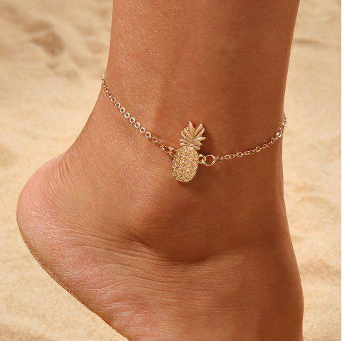 Gold Pineapple Charm Anklet Bracelet Women Ankle Sandals Barefoot Beach Jewelry - GOLD 1PC