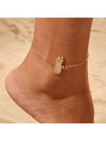 60e93dc48 Gold Pineapple Charm Anklet Bracelet Women Ankle Sandals Barefoot Beach  Jewelry