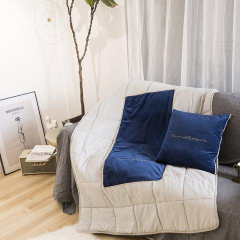 ZYL Italian Velvet Luxury Cushion Couchion Multi-function Office Cushion - Bleu Cobalt 45*45CM