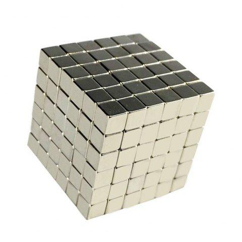 Cool and Powerful Magnet Toy Magnet Square Magic Cube - SILVER