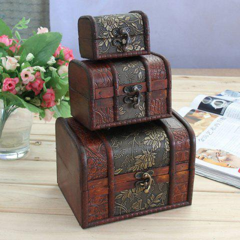 Antique Three-Piece Jewelry Box Birthday Wedding Giftents Gifts - COPPER 3PCS