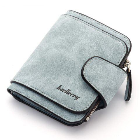 Baellerry Fashion Women Wallets Card Holder Soft - BABY BLUE 9.5*11.5*1.8CM