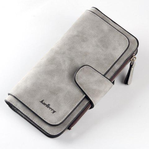 Women Wallets Hasp Zipper Design Card Holders Long Clutch - LIGHT GRAY 18.8*10.5*1.8CM