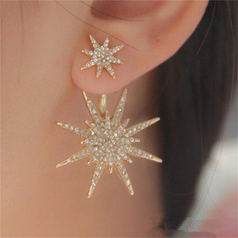 Delicate Fashion Women's Alloy Six Mang Star Ear Nails - GOLD