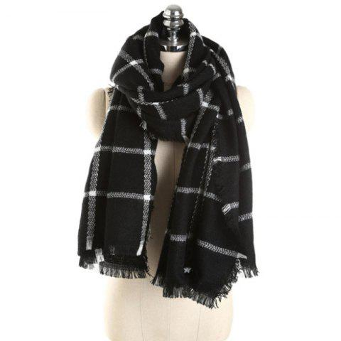 New Lady Fashion Colors Plaid Warm avec écharpe automne hiver pompon - multicolor S ONE SIZE