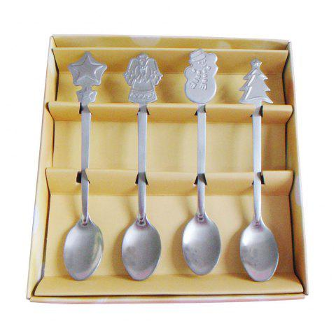 New Christmas Small spoons Set of 4 - Argent