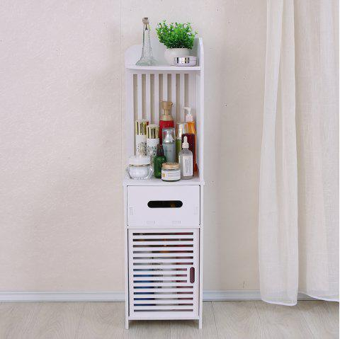 The Louver Toilet Cabinet Slewing Angle Storage Rack Shelf - WHITE