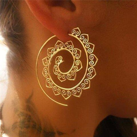 Fashionable Temperament Women's Round Earrings - GOLD