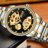 New Fashion Men Business Steel Band Machinery Watch - BLACK