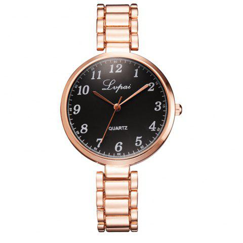 Lvpai P837 Montre Casual Montre Décontractée à Grand Cadran en Alliage Époxy Femme - multicolor A