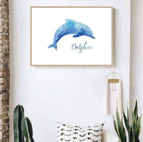 W768 Dolphin Pattern Unframed Wall Canvas Prints for Home Decorations - multicolor A 70*50CM