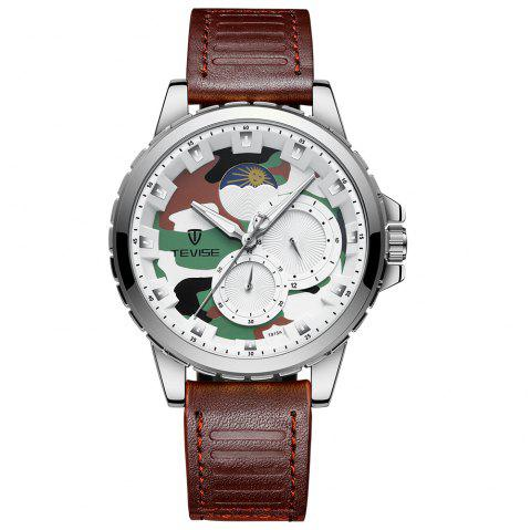 Tevise T815A Luminous L Moon Stars Waterproof Automatic Mechanica Watch - multicolor D