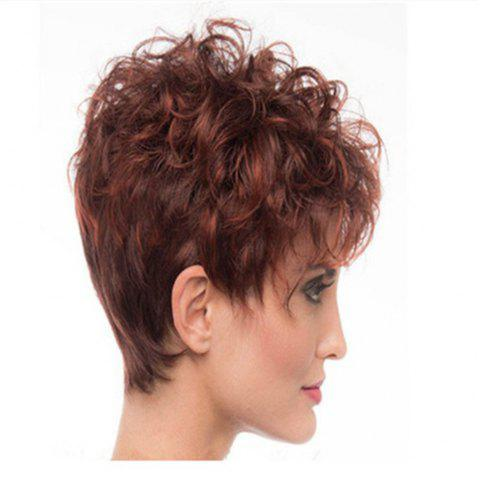 Wine Red Gradient Small Roll Shape Hot Wig Set - RED WINE 28 X 17 X 5CM