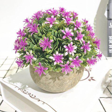 Semi-Circle Flowers and Plants Living Room Bedroom Simulated Colorful Potted Pla - multicolor D 1PC