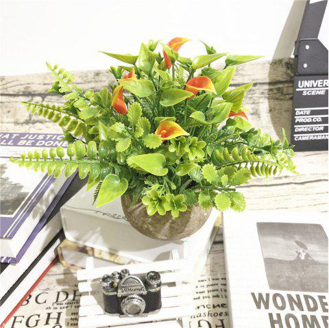 Creative Plastic Simulation Potted Household Decoration Flower Decoration - multicolor C 1PC