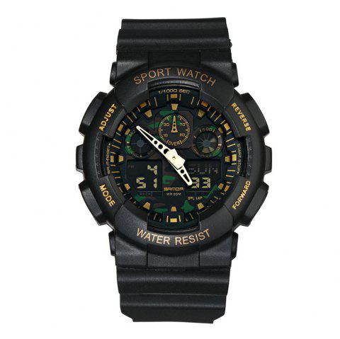 SANDA Military Camouflage Dual Movement Dual Display Sports Electronic - Camouflage Bleu Marine 1PC