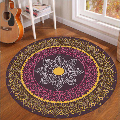 Crystal SuperSoft Living Room Tapis circulaire Couverture d'ordinateur Spread Roo - multicolor A 120CM