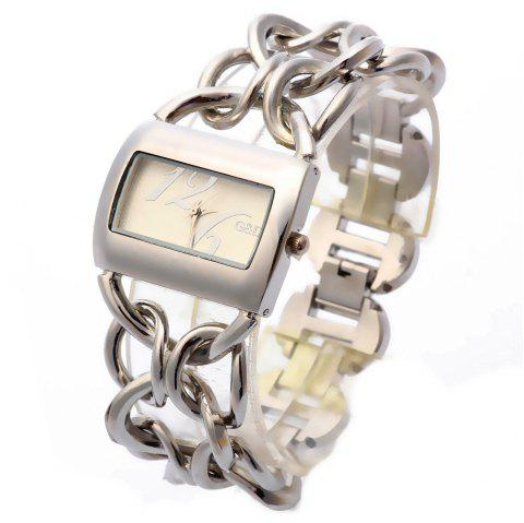 Ladies'Top Brand Stainless Steel Luxury Quartz Watch - SILVER