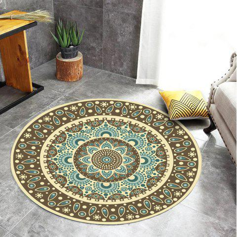 Crystal Super Soft SalonTea Table Tapis Circulaire Tapis De Chambre Ordinateur - multicolor A 60X60CM