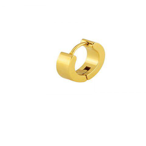 Simple Fashion Men's Planar Round Ear Buttons - GOLD