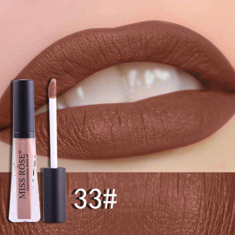 MISS ROSE 12 color fog matte transparent tube durable waterproof Lip Gloss - multicolor H