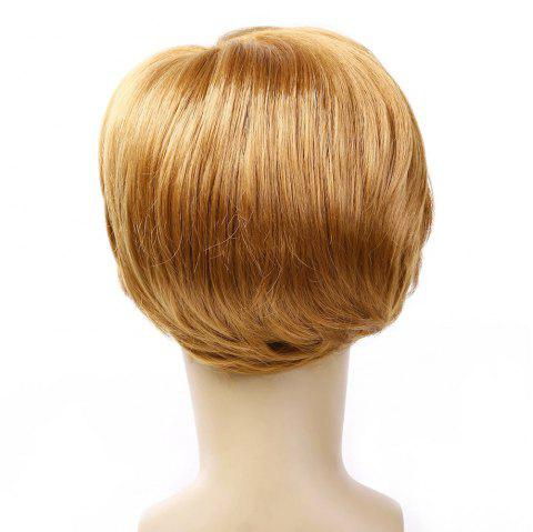 Wig Men'S Short Straight Hair - GOLD 20INCH
