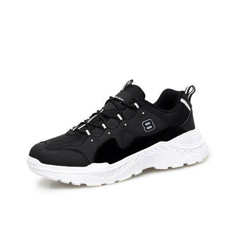 Fashion Ladies Sports Shoes Wild Thick Bottom Increased Running Tide Shoes Coupl - BLACK EU 39