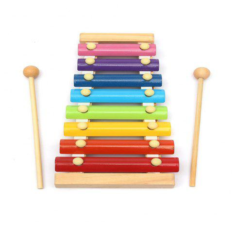 Rainbow Eight-Note Hand Knocking on The Xylophone Toy Musical Instrument - multicolor