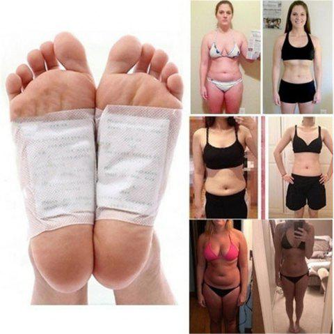 6PCS Detoxification Beauty Weight Loss and Lazy Foot Pastes - WHITE