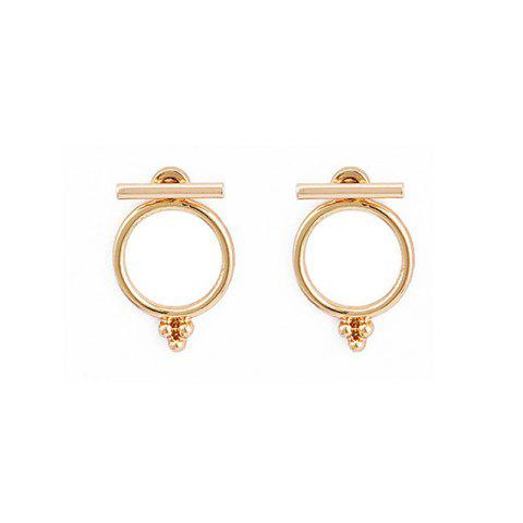 Fashionable Delicate Lady's Back-Hanging Ring Earrings - GOLD
