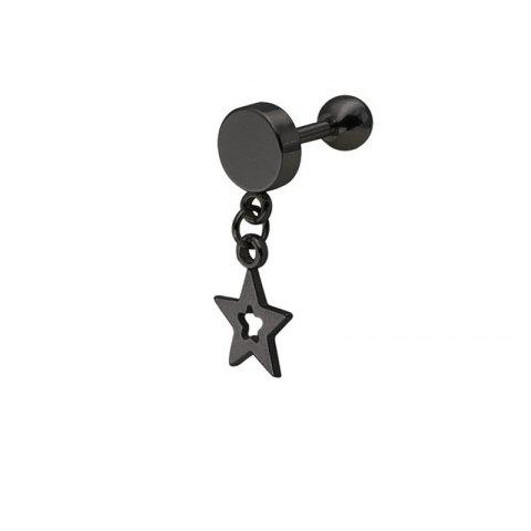 Creative Fashion Women's Pentagon Hollow-Out Dropping Ear Nail - BLACK