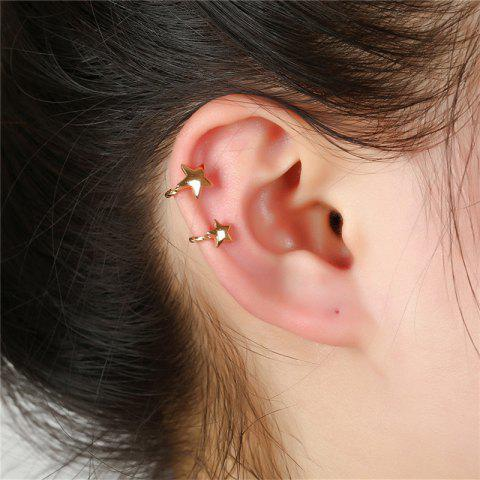 Emperament Fashion Lady Starless Earrings Without Ear Holes - GOLD