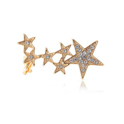 Fashion Creative Ladies Insert Diamond Star Ear Nails - GOLD