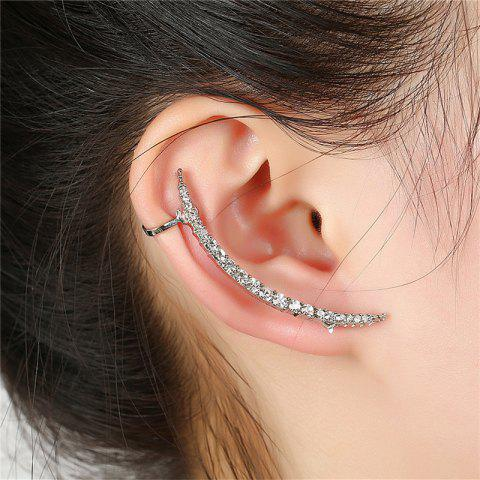 Delicate Baitao Lady with Drill Ear Studs in Succession - SILVER