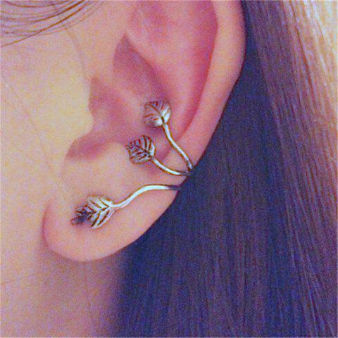 Delicate Fashion Women's Leaf Ear Clamp - SILVER