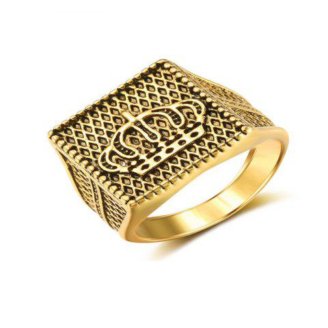 A Noble and Luxurious Man's Gold-Plated Ring - GOLD US 10