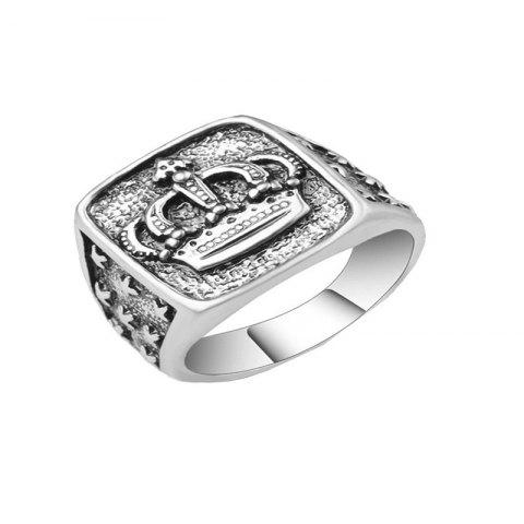 Simple Fashion Men's Crown Ring - SILVER US 9