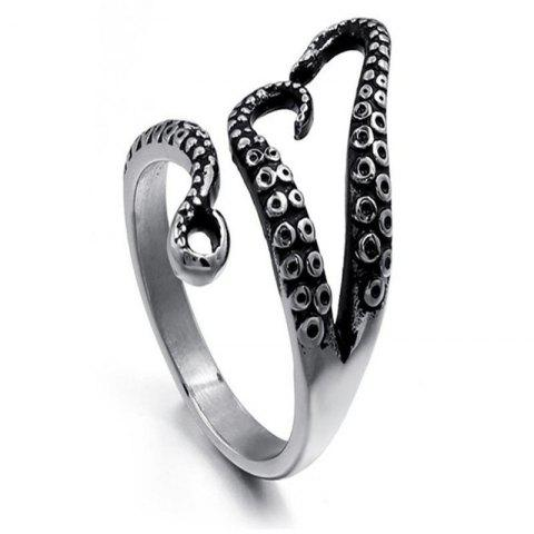 Personality Trend Lady Octopus Ring - SILVER US 7