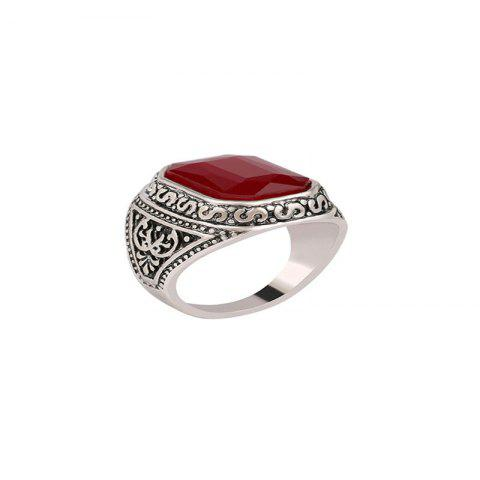 Simple Trend Men's Gem Ring - RED US 10