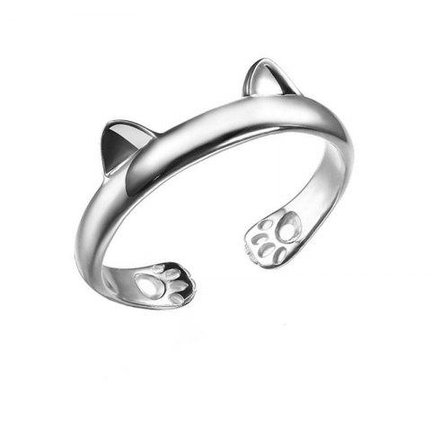Creative Fashion Lady Cat Ring - SILVER US 10